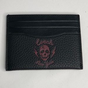 Coach Skull New York Slim Card Case Black Wallet